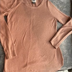 Old Navy Mauve Pink Gold Sparkle Sweater
